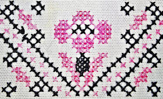 Canvas, Hand Labor, Embroidery, Cross Stitch, Pattern