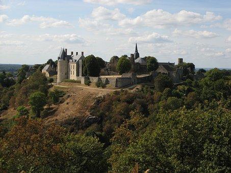 Castle, Landscape, Sainte-suzanne, Mayenne, France