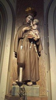 Church, Antwerp, Image, Belgium, Statue, Work Of Art