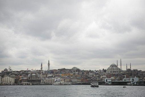 Istanbul, Galata, Landscape, Tower, Date, City, Turkey