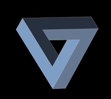 Escher Triangle, Triangle, Geometry, Absurd, Irrational