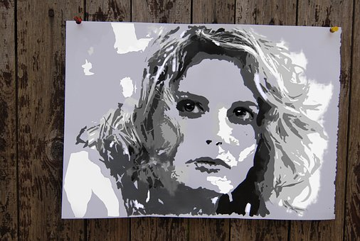 Woman, Portrait, Fence
