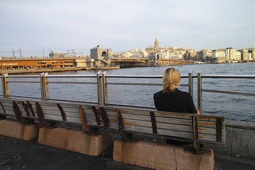 Istanbul, Woman, Galata, Stand Alone, Sit, B Add