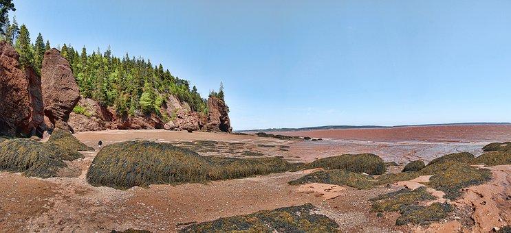 Hopewell Rocks, Bay Of Fundy, Fundy, Hopewell, Canada