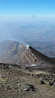 Etna, Italy, Volcano, Crater, Volcanic Crater, Mountain