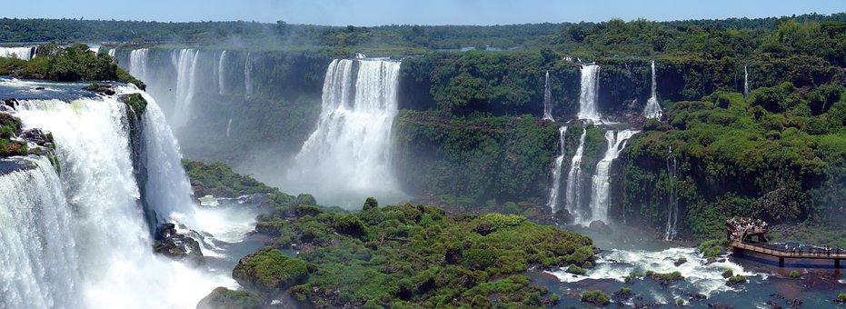 Waterfall, Cataracts, Iguaçu, Mouth Iguaçu, Brazil