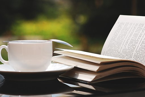 Book, Teacup, Nature, Summer, Reading, Coffee