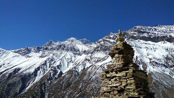 Nepal Landscape, Stupa Buddhist, Buddhist Stupa