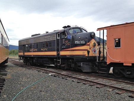 Train, Vintage, Railroad, Travel, Oregon