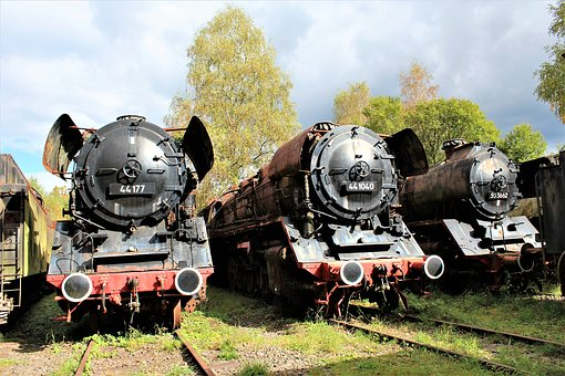 Railway, Steam Locomotive, Locomotive, Historically
