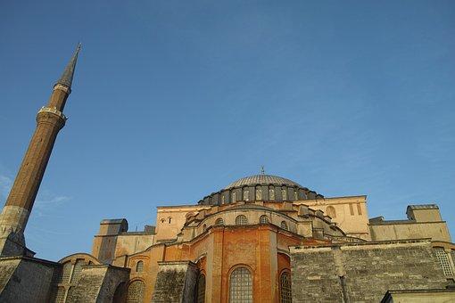 Cliche, Hagia Sophia, Cami, Islam, Minaret, Religion