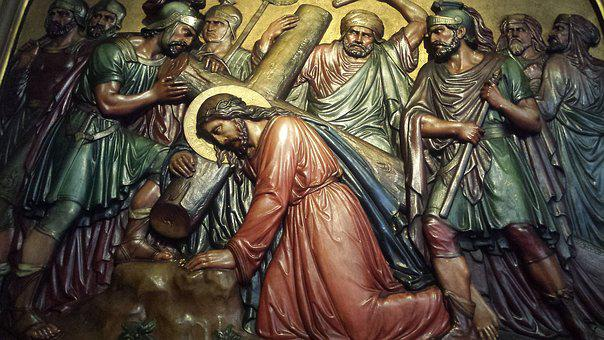 Jesus, Stations Of The Cross, Holy, Wooden Cross