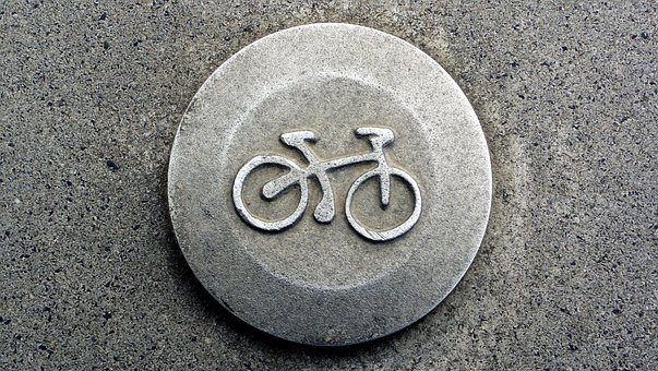 Sign, Bike, Symbol, Stamp, A Sign On The Wall