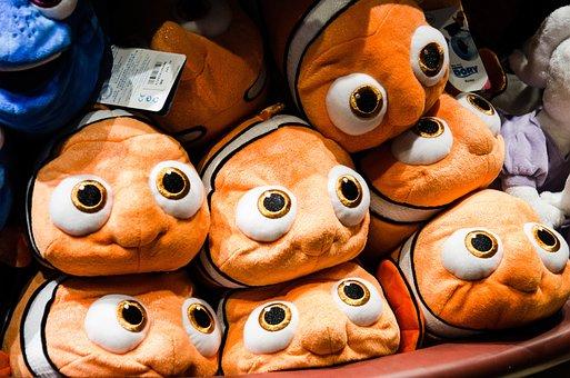 Stuffed Toys, Toys, Fish, Disney, Clown Fish, Stuffed