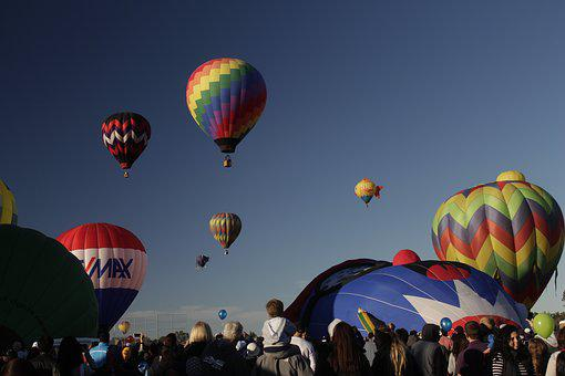 Balloons, California, Air, Travel, Tourism, Usa, Hot