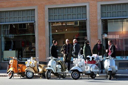 Vespa, Motor Scooter, Roller, Vehicle, Locomotion
