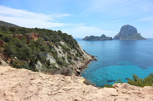 Es Vedra, Spain, Ibiza, Island, Balearic Islands, View