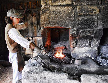 Blacksmith, Working, Metal, Hammer, Iron, Worker, Anvil