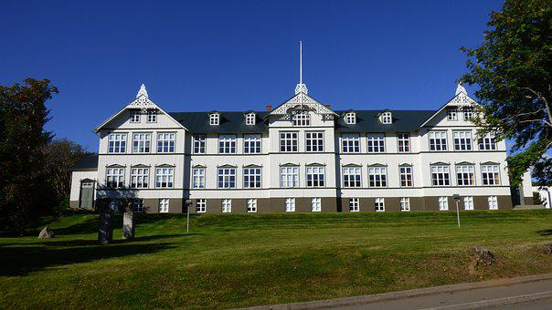 Akureyri, Iceland, College, Architecture, Building
