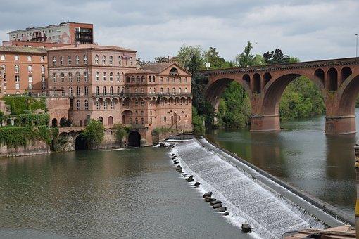 Albí, Tolouseloutrec, River, France, Bridge, Water