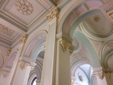 Ceiling, Parliament, Ornate, Building, Architecture