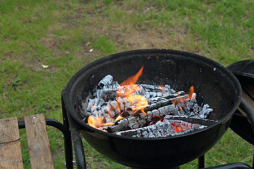 Fire, Grill, Barbecue At The, Summer, Kindle