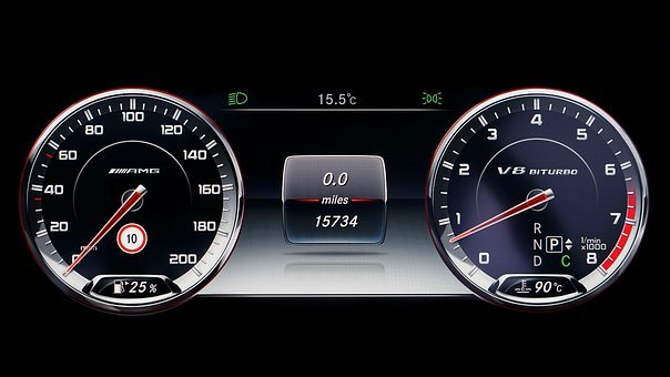 Speedometer, Car, Vehicle, Speed, Dashboard, Auto