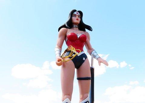 Wonder Woman, Superhero, Sky, Power, Costume, Female