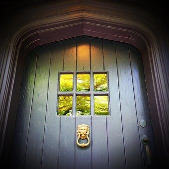 Door Knocker, Wood, Door, Entry, Knocker, Metal, House