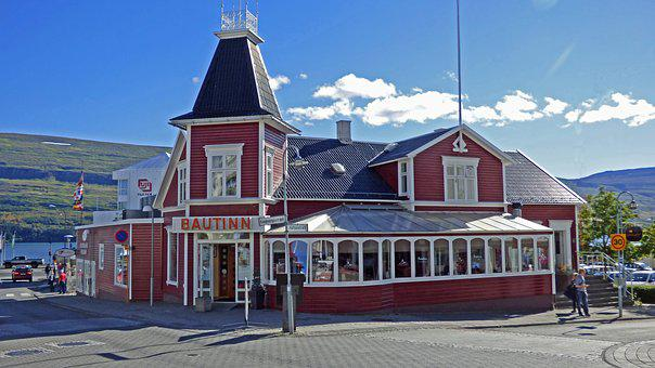 Akureyri, Iceland, City, Building, Icelandic
