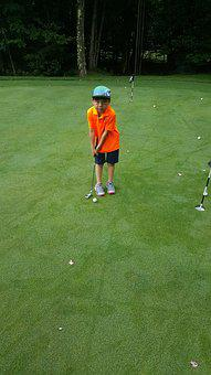 Kids Golf, Putting, Golfer