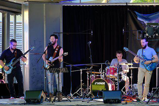 Band, Concert, Music, Town Festival, Live, Microphone