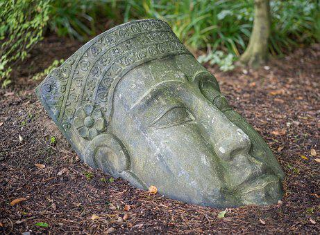 Buddha, Head, Bust, Figure, Sculpture, Meditation