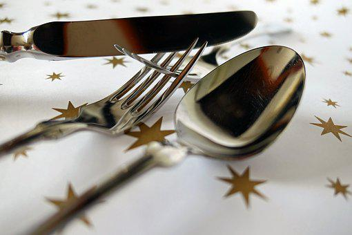 Fork, Cutlery, Knife, Metal, Spoon, Gloss, Gastronomy