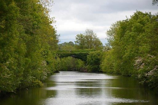 Shannon, Ireland, Houseboat, Bridge, River, Nature