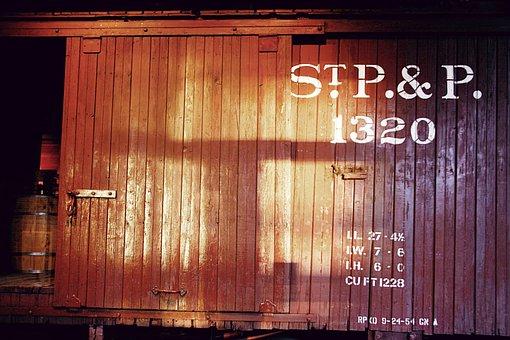 Railroad, Car, Vintage, Light, Train, Rail, Transport