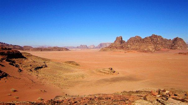 Wadi Rum, Jordan, Red Sand, Desert