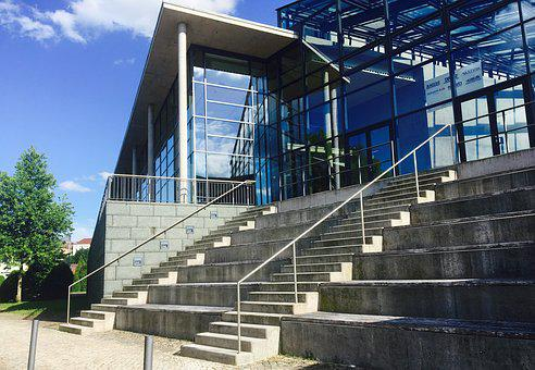 Stadthalle, Germany, Architecture, Stairs, Building