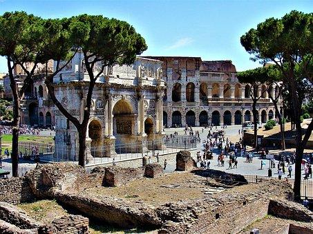 The Arc De Triomphe, Constantine The Great, Rome