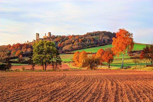 Ball Castle, Volkmarsen, Northern Hesse, Autumn, Castle