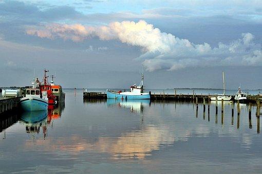 Port Motifs, Fishing Boats, Marina, Abendstimmung