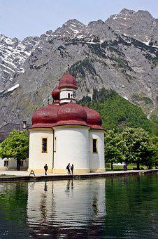 Chapel, Königssee, Alpine Hiking, Trekking