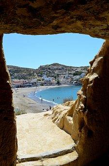 Matala, Greece, Cave, Tomb Cave, Hippihöhle, Crete