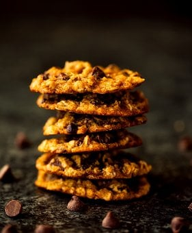 Chocolate Chip, Cookies, Sweets, Treat, Portrait