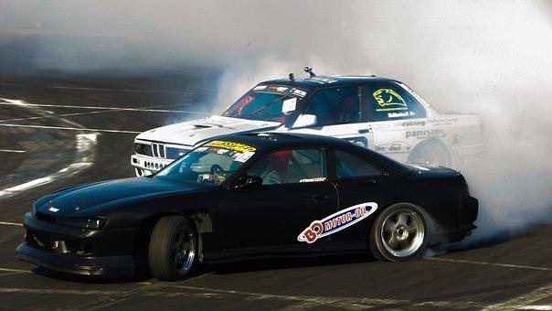 Drifting, Sport, Drift, Car, Speed, Spinning Wheels