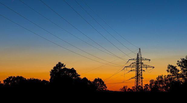 Strommast, Current, Energy, Electricity, Power Line