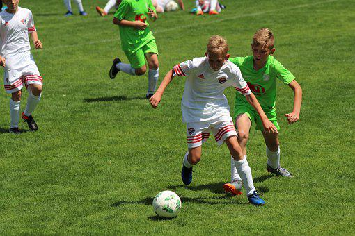 Football, Youth, Fight For The Ball