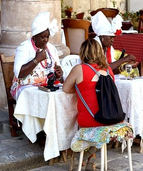 Habana, Havana, Cuba, Fortune Tellers, Outdoors, Urban