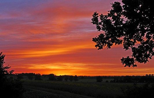 Sunset, In Mid-june, 22 Pm, Mecklenburg