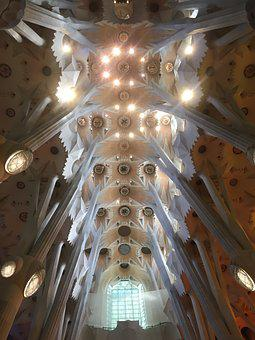 Sagrada, Familia, Barcelona, Landmark, Europe, Church
